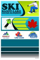 Banff Lake Louise poster by Sandybelle