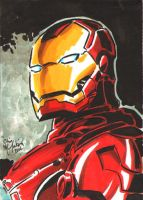 Iron Man Sketch Card by ChrisMcJunkin
