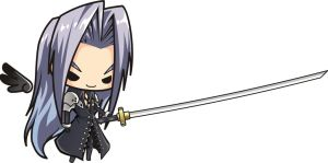 Final Fantasy 7 Sephiroth Chibi by houssamica