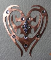 Copper Heart Pendant by joharasaluki