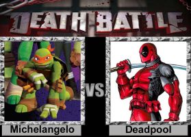 Death Battle: Michelangelo vs Deadpool by porygon2z