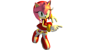Amy Rose Render by Triplet99c