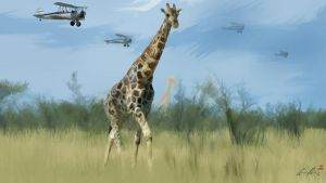 Giraffe Safari by TigerArtStudio