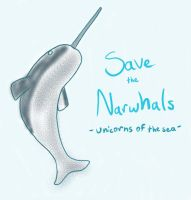 Save the Narwhals by Lalikaa