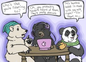 Hipster Bears by PackofWildBores