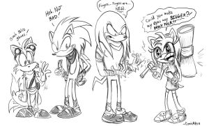 sonic boom doodle by Comickpro