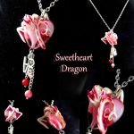 Sweetheart Dragon necklace by LittleCLUUs