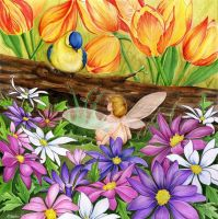 Spring Greetings by JoannaBromley