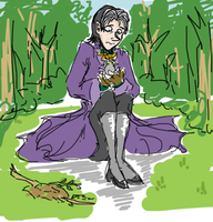 Cedric and a Babby Burd by evilhamster13