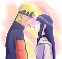 NaruHina - Pocky Day by Axichan