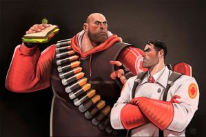 Heavy and Medic by KRedous