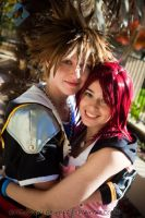 Kingdom Hearts- Sora and Kairi by VandorWolf