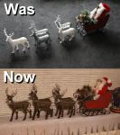 Santa's Sleigh, Was and Now. by Joker-laugh