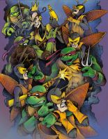 TMNT v Venture Bros Monarch by JeffyP