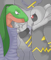 Dusknoir and Grovyle by Bat-chan