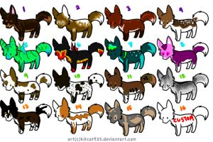 Dog Adoptables by Awesomeness-Adopts