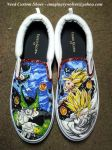 SSJ2 Gohan vs Cell custom shoes by societymisfit
