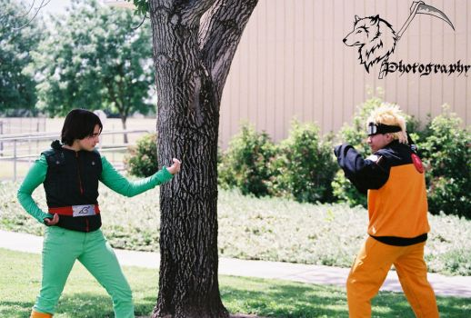 Naruto and Rock Lee by Draca3