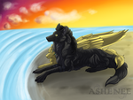On The Beach by Ashenee
