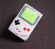 Gameboy pinback by rude-and-reckless