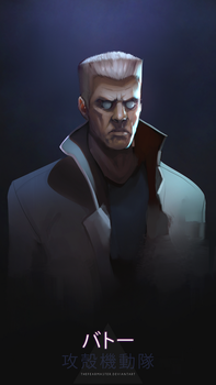 daily painting : batou by TheFearMaster