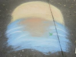 Sun .:Chalk drawing:. by Beautifulmonster78