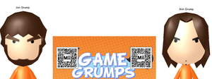 GAMEGRUMPS UN-OFFICIAL MII'S by madbowser