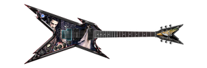 GUITARRA ELECTRICA GOTICA by DRAGHONS