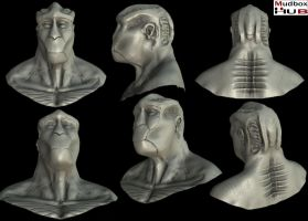 Alien Head Sculpt 03 by spybg