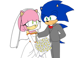 Sonic and Amy's wedding by MarcosLucky96