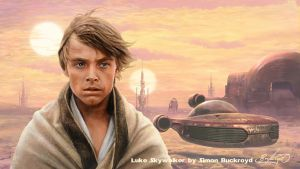 Luke Skywalker on Tatooine by Simon Buckroyd by Binoched