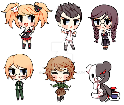Dangan Ronpa stickers by Amphany