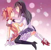 Madoka x Homura by ohseventwo
