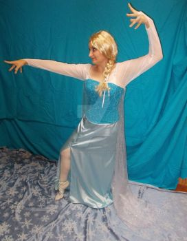 Frozen ELSA Cosplay Costume Dress HANDMADE DISNEY by davidbillups
