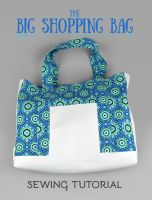 Sewing Tutorial - Big Shopping Bag by SewDesuNe