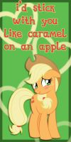 Applejack Valentine Card by Kurenai-Hio