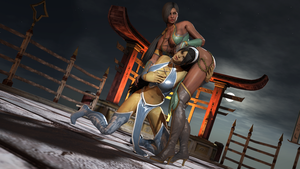 Mortal Kombat - Jade VS Kitana by James--C