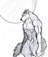 Werewolf Sketch by BlueDraken
