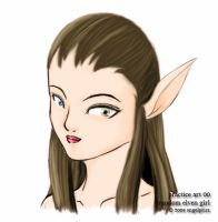 practice 00: elven girl face by angelprisz