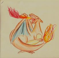 Charizard sketch to speedo89 by jujuMilani