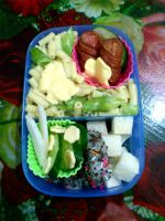 mac cheese turnip dragon bento by plainordinary1