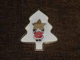 Cross Stitch Santa Clause with Star Ornament by Enithien