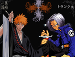 Ichigo and Trunks Wallpaper by Kuchendiebin