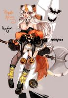 Pumpkin Unicorn+closed+ by mostlyniceAdopts