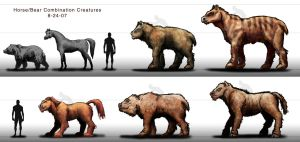 Concept Art: Bear-Horse Combos by Cory-Freeman