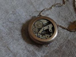 Steampunk necklace by Hiddendemon-666