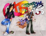 Cats and Rabbits by zirio