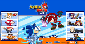 Sonic Battle Wii Poster by Hawke525