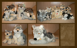 .: Wolf Plush Collection :. by Dunkin-Prime