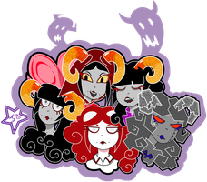 The Many Faces Of Aradia Megido by animatedjapanbee